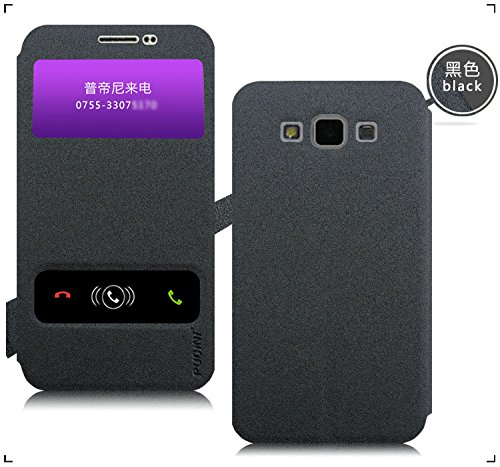 Original Pudini® Black colour Double window Flip Case For Samsung Galaxy Grand Max