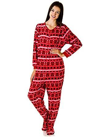 amazoncom rene rofe juniors plush onesie footie pajamas