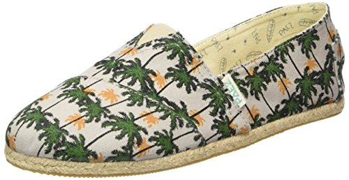 PaezOriginal Raw Hawaii - Espadrillas Unisex - Adulto , Multicolore (Mehrfarbig (Green, Grey 0013)), 38