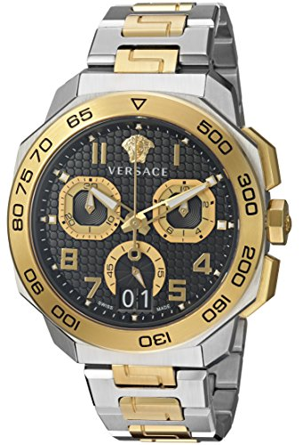 Versace-Mens-Dylos-Chrono-Swiss-Quartz-Stainless-Steel-Casual-Watch-ColorTwo-Tone-Model-VQC100016