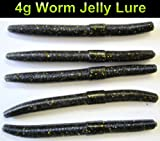 Lug Worm Jelly Lure Soft Bait 110mm & 4g. Natural Imitation. 1 Pack of 5 Worms