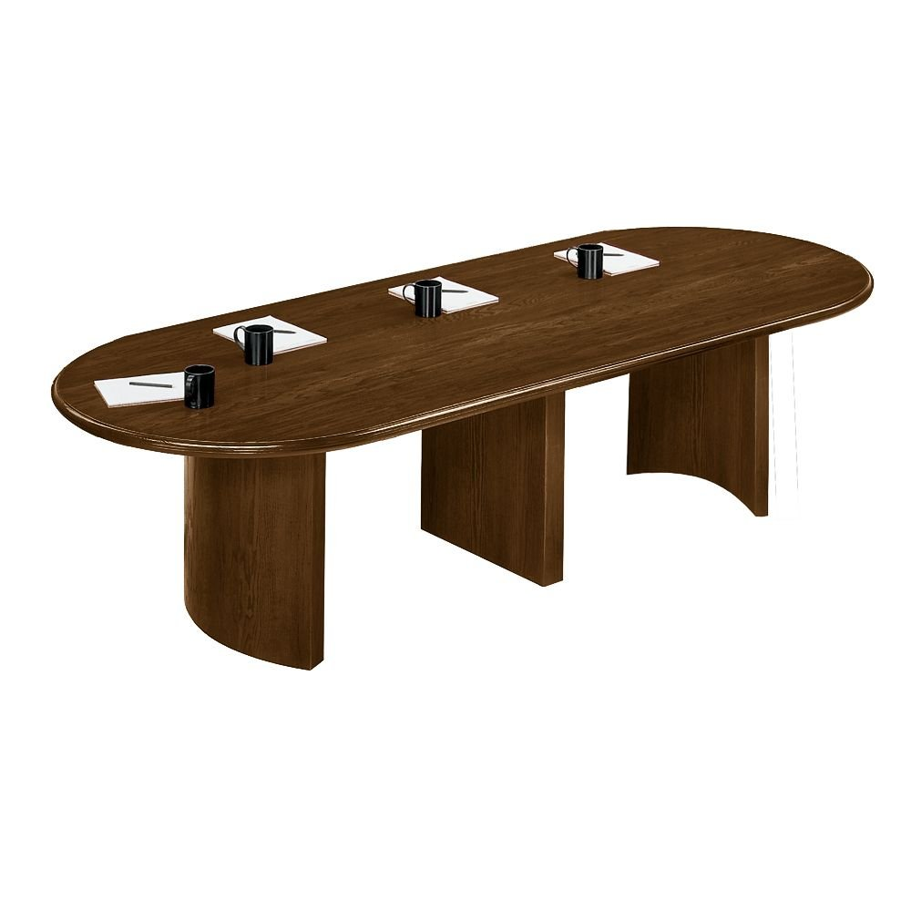 """Contemporary 10"""" Oval Conference Table Dimensions: 120""""W x 46""""D x 29.5""""H Weight: 195 lbs Walnut"""