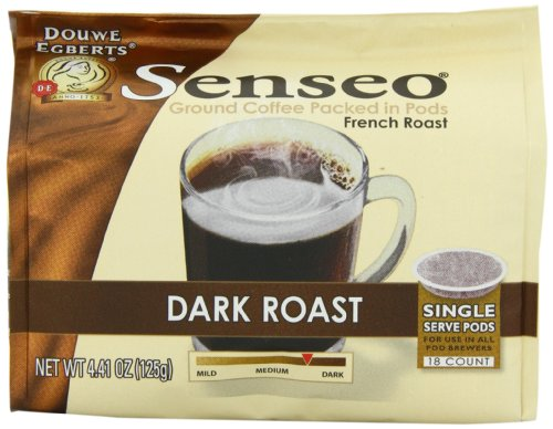 Senseo Dark Roast Coffee Pods, 18-Count Pods (Pack of 4)