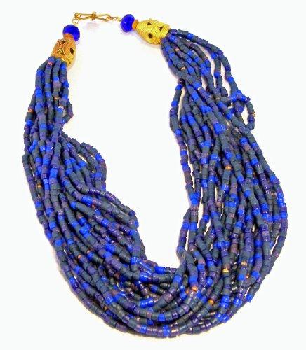 River Multi-Strand Glass Bead Necklace