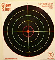 50 Pack - 10&quot; Reactive Splatter Targets - Glowshot - Multi Color - Gun and Rifle Targets - Glow Shot from GlowShot Targets