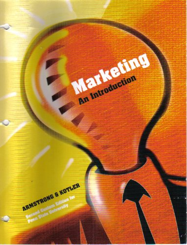 Marketing An Introduction Second Custom Edition for Penn State University
