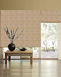PRESTO BAZAAR 1 Piece Polyester Floral Blind - Gold
