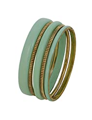 Celadon And Gold Bangle Bracelet Indian Fashion Jewelry Christmas Gift For Her