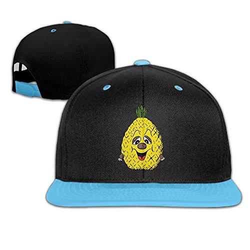 wyuzhen-kids-pineapple-smiley-face-hip-hop-snapback-hat-caps-royalblue