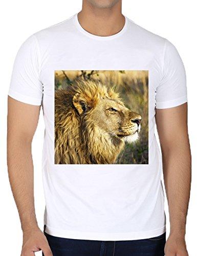 camiseta-blanca-con-cuello-redondo-para-los-hombres-tamano-m-lion-safari-animal-de-la-fauna-by-petra