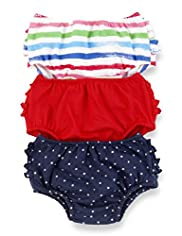 3 Pack Pure Cotton Frill Knickers