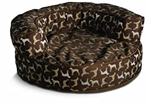 Crypton William Wegman Round Rotator Bolster Pet Bed, Large, Hot Chocolate
