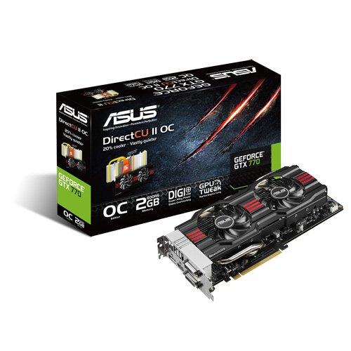 Asus GTX770-DC2OC-2GD5 Carte graphique Nvidia Geforce GTX 770 950 MHz 2048 Mo PCI Express