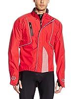 Santini Chaqueta de Ciclismo Rainproof (Rojo)