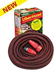 New! - Uberhose™ - 50ft Expanding Elastic Flat Garden Watering Hose. Made From Expandable Rubber. Backed By the Trusted Gardenite® 100% Customer Satisfaction Guarantee!