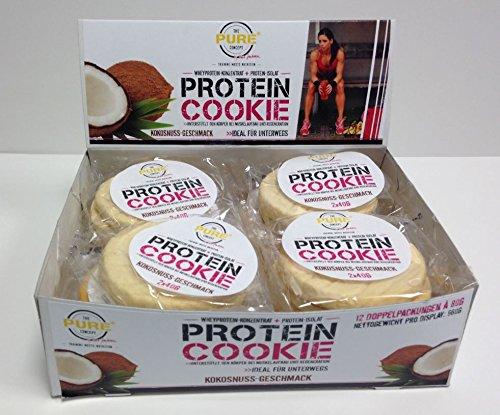 PURE Protein Cookies Kokosnuss-Geschmack 12 x 80g