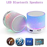Bluetooth Speaker With LED Wireless Audio,Portable USB MP3 Player Stereo Surround Loud Mini Radio Bluetooth Speaker... - B01MEC79XT