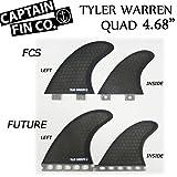 """CAPTAIN FIN  キャプテンフィン TYLER WARREN 4.68"""" QUAD FIN シグネイチャーシリーズ ショートボード用クアッドフィン (FUTUREタイプ)"""