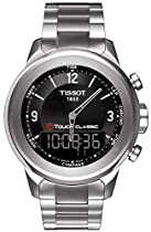 Tissot T0834201105700 Watch T-Touch Classic Mens - Black Dial Stainless Steel Case Quartz Movement