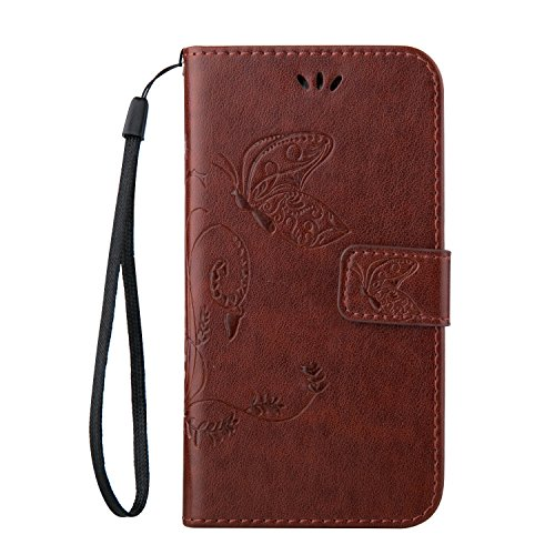 Cozy Hut Samsung Galaxy S4 PU Housse,Slim-Fit Folio Smart Cuir Portefeuille Case Coque Etui pour Samsung Galaxy S4,Fleur de papillon Motif PU Leather