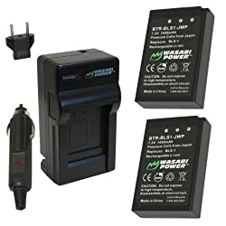 Wasabi Power Battery and Charger Kit for Olympus BLS-1 PS-BLS1 E-420 E-450 E-600 E-620 PEN E-P1 E-P2 E-P3 E-PL1 E-PL3 E-PM1