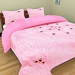 VC Cotton Double Bedsheet With Quilt and Two Pillow Covers (R001)