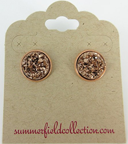 rose-gold-tone-metallic-faux-druzy-stone-stud-earrings-12mm