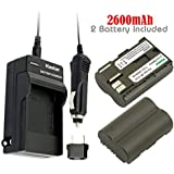 Kastar Battery (2-Pack) and Charger Kit for Canon BP-511, BP-511A work with Canon EOS 5D, 10D, 20D, 20Da, 30D, 40D, 50D, 300D, D30, D60, Rebel, PowerShot G1, G2, G3, G3X, G5, G6, Pro 1, Pro 90, Pro 90 IS, FV10, FV100, FV2, FV20, FV200, FV30, FV300, FV40, FV400, FV50, FVM1, FVM10, Optura 10, Optura 100MC, Optura 20, Optura 200MC, Optura 50MC, Optura Pi, Optura Xi, PV130, ZR10, ZR20, ZR25, ZR25MC, ZR30, ZR30MC, ZR40, ZR45MC, ZR50MC, ZR60, ZR65MC, ZR70MC, ZR80, ZR85, ZR90
