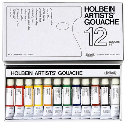 12-color-set-holbein-gouache-japan-import