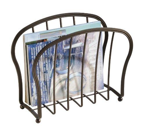 Interdesign york lyra magazine holder bronze furniture for Interdesign york