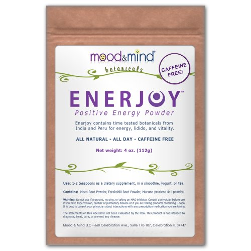 Enerjoy Positive Energy Powder (Caffeine Alternative, All Day Energy) 4 Oz.