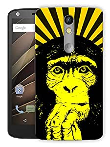"""Humor Gang Tripped Out Monkey Yellow Printed Designer Mobile Back Cover For """"Motorola Moto X Force"""" (3D, Matte, Premium Quality Snap On Case)"""