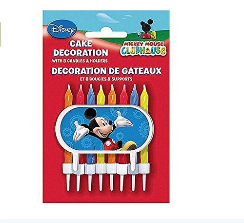 Disney Mickey Mouse Clubhouse Cake Decoration - 8 Candles and Holders - 1