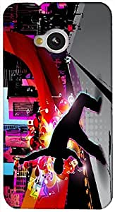 Timpax protective Armor Hard Bumper Back Case Cover. Multicolor printed on 3 Dimensional case with latest & finest graphic design art. Compatible with HTC M7 Design No : TDZ-22001