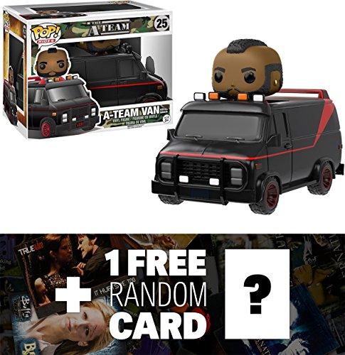 A-Team Van w/ B.A. Baracus: Funko POP! Rides x The A-Team Vinyl Figure + 1 FREE American TV Themed Trading Card Bundle (110013)