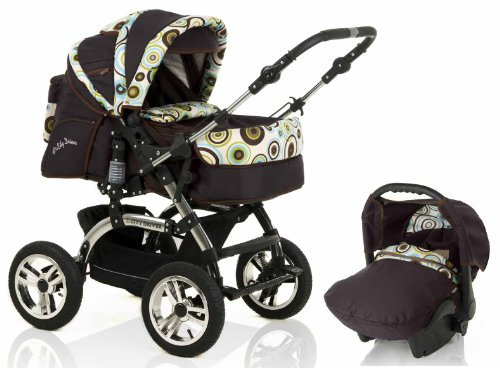 wheels_4_babies presents: 3 in 1 Travelsystem CITY DRIVER incl. pushchair and car seat in design