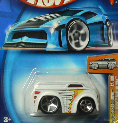 Mattel Hot Wheels 2004-012 First Editions Blings White Dairy Delivery 1:64 Scale - 1