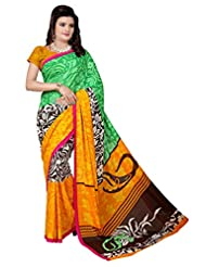 Manvaa Women's Printed Fashion Georgette Saree With Blouse Piece