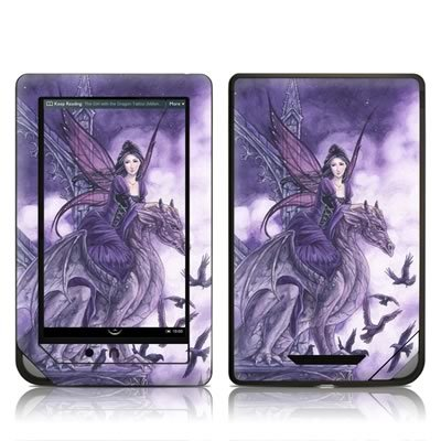 Dragon Sentinel Design Protective Decal Skin Sticker for Barnes and Noble NOOK COLOR E-Book Reader