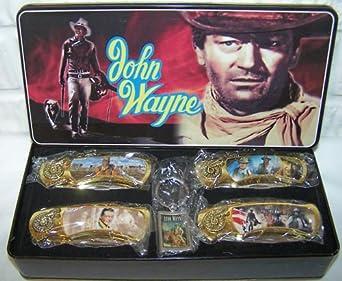 John Wayne Collectible Knife & Keychain Set in Tin
