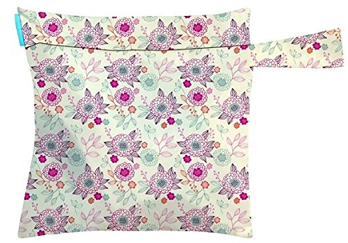 Charlie Banana Washable Diaper Tote Wet Bag (Peony Blossom) front-820744