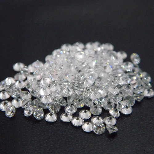 Round 1.75mm AA Cubic Zirconia White CZ Stone Lot of 1000 Pieces