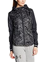 Under Armour Chaqueta Deporte Running Printed Layered Up Storm (Negro)