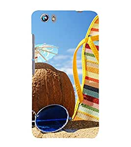 Beach Vacations 3D Hard Polycarbonate Designer Back Case Cover for Micromax Canvas Fire 4 A107