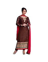 Ali Colours Designer Embroidered Ready To Stitch Dress Material For Women - B00VPVKDDW