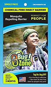 0Bug!Zone 1 Piece Mosquito Barrier Tag for People