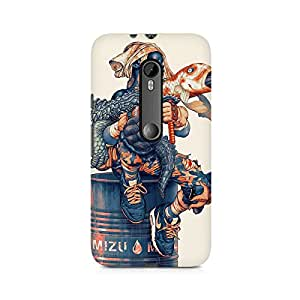 Mobicture Mizu Boy Illustrated Premium Printed Case For Moto X Style