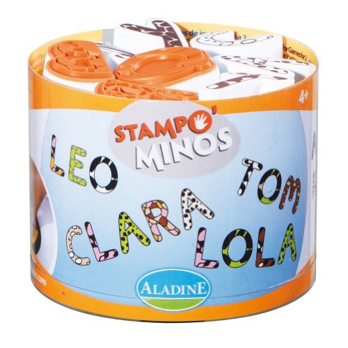 Aladine Stampominos, Letters Foam Stamps, Set of 26 Plus 1 Extra Large Ink Pad - 1