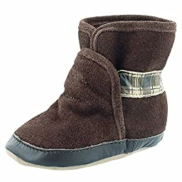 Robeez Cozy Ankle Bootie (Infant/Toddler),Brown,12-18 Months (4.5-6 M US Toddler)