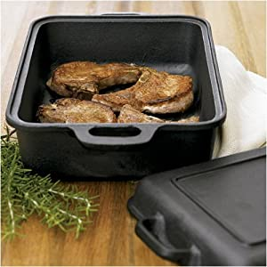 Emeril 5-in-1 Pre-Seasoned Cast Iron Smoker